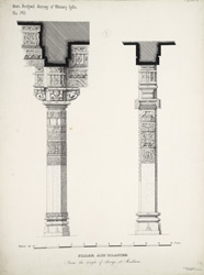 Pillar and Pilaster from the temple of Surya at Mudhera